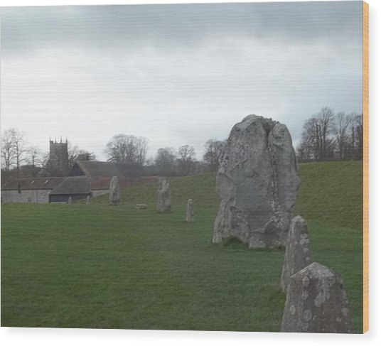 Avebury Stone Henge Wood Print