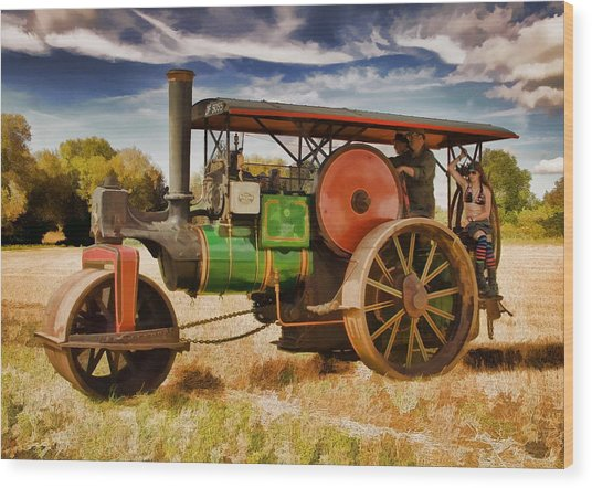 Wood Print featuring the photograph Aveling Porter Road Roller by Paul Gulliver