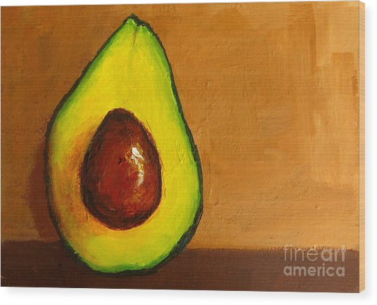 Avocado Palta Vi Wood Print