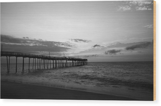 Avon Pier In Outer Banks Nc Wood Print
