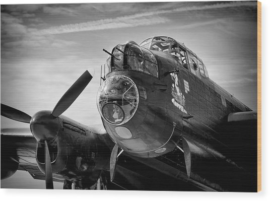 Avro Lancaster Wood Print