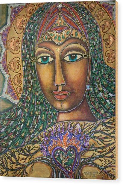 Awakening Heart Wood Print by Marie Howell Gallery