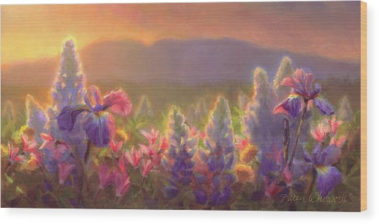 Awakening - Mt Susitna Spring - Sleeping Lady Wood Print