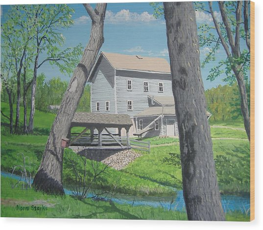 Award-winning Painting Of Beckman's Mill Wood Print