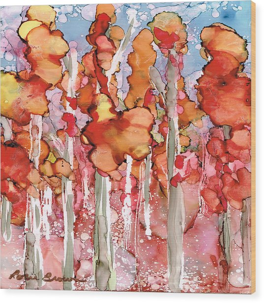 Awesome Autumn Wood Print by Rosie Brown