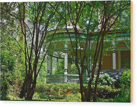 Awesome Victorian Porch Wood Print