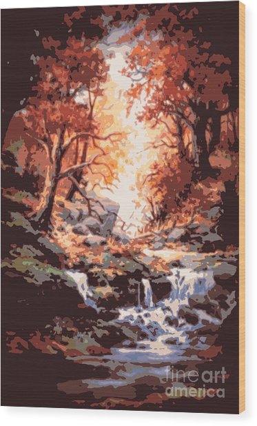 Awsom  Wood Print by W  Scott Fenton