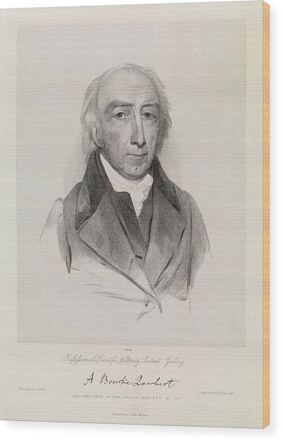 Aylmer Bourke Lambert Wood Print by Royal Institution Of Great Britain / Science Photo Library