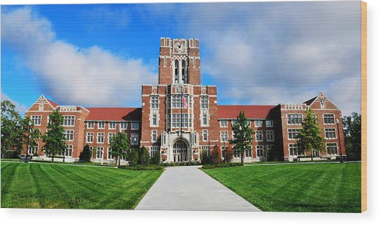 Ayres Hall Wood Print