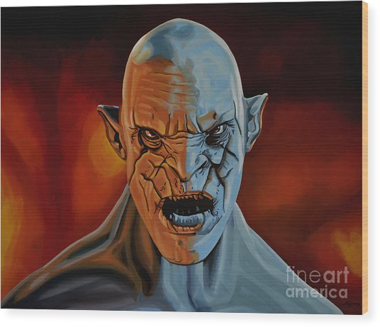 Azog The Orc Painting Wood Print