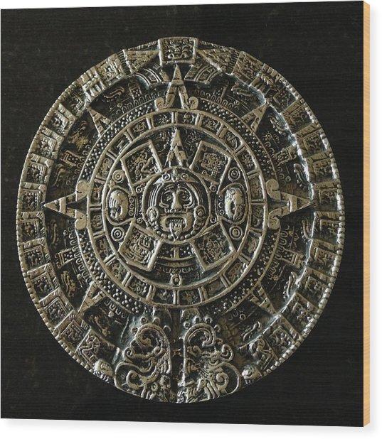 Aztec Wood Print