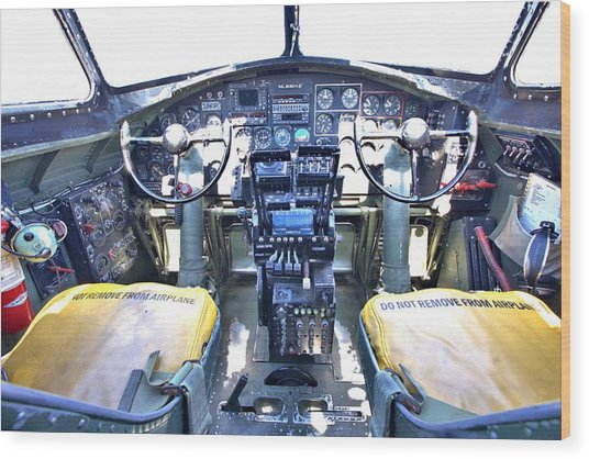 B-17 Front Office Wood Print