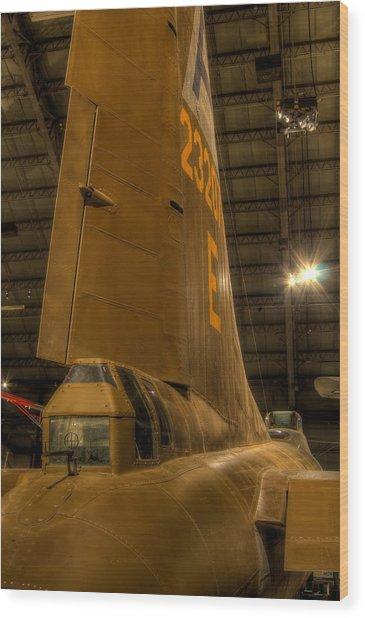 B-17 Tail Gunner Wood Print
