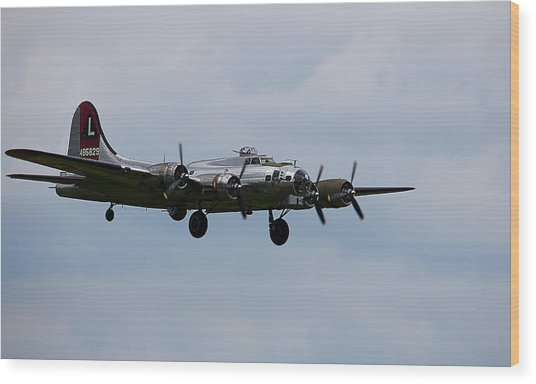 B-17 Yankee Lady Wood Print