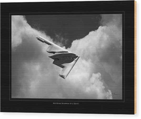 B-2 Spirit Wood Print by Larry McManus