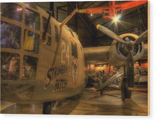 B-24 Strawberry Bitch Wood Print