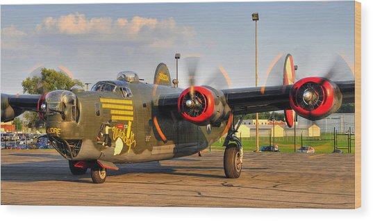 B-24j Wood Print by Dan Myers
