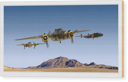 B-25 Mitchell Bomber Wood Print by Larry McManus