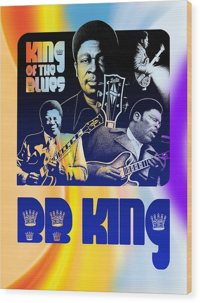 B. B. King Poster Art Wood Print by Robert Korhonen