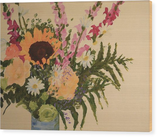 B-day Bouquet Wood Print by Valerie Lynch