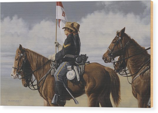 B Troop Wood Print