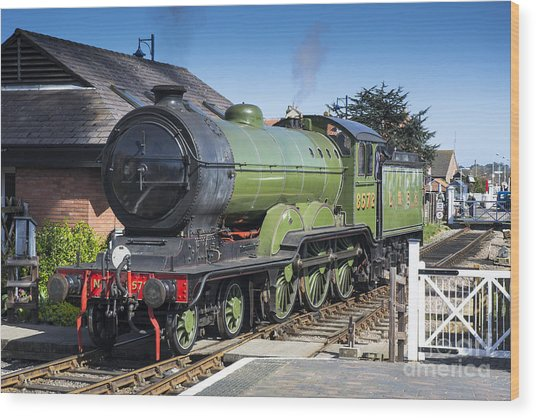 B12 Steam Loco 8572 Wood Print by Simon Pocklington