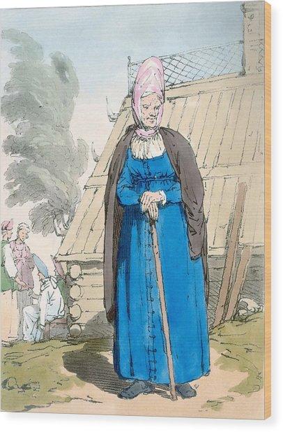 Baba Or Old Woman Wood Print