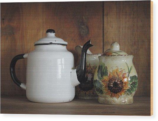 Baba's Teapot Wood Print