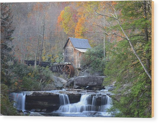 Babcock State Park Mill Wood Print