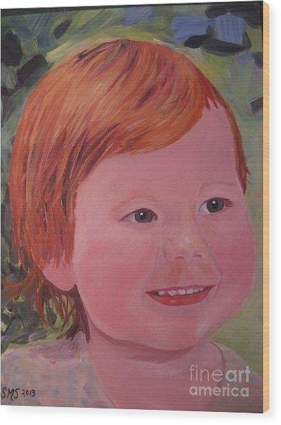 Baby Cheeks Wood Print