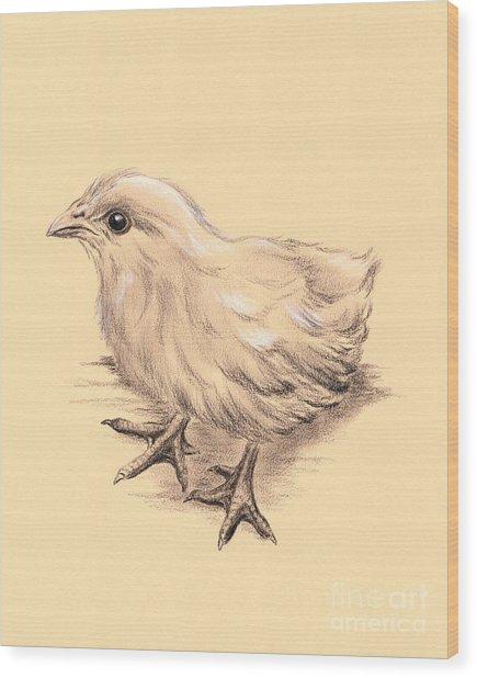 Baby Chicken Wood Print
