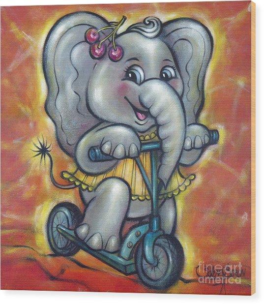 Baby Elephant 101011 Wood Print