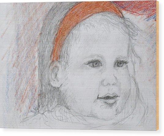 Baby Josephine Wood Print