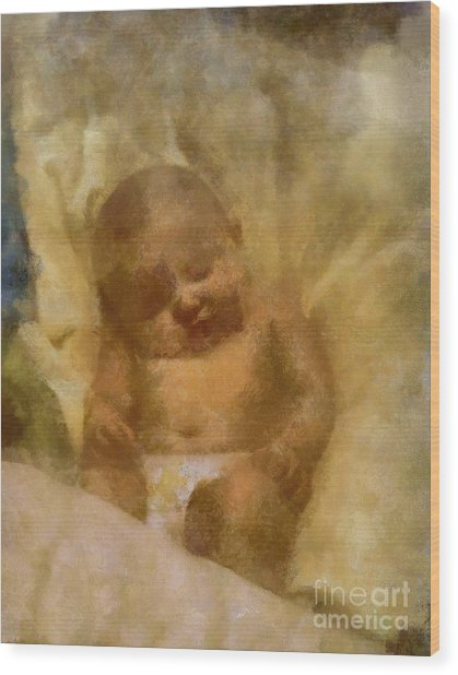 Baby Lexa Wood Print