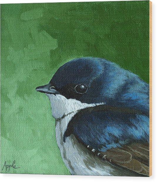 Baby Tree Swallow Wood Print