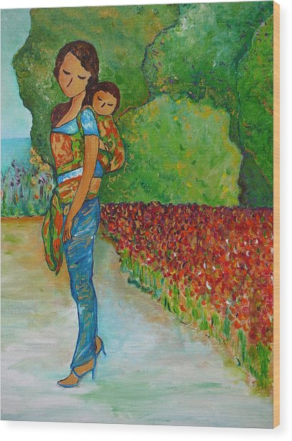 Baby Wearing In The Green Wood Print