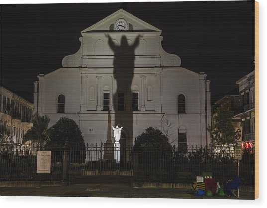 Back Of St Louis Cathedral In New Orleans Wood Print