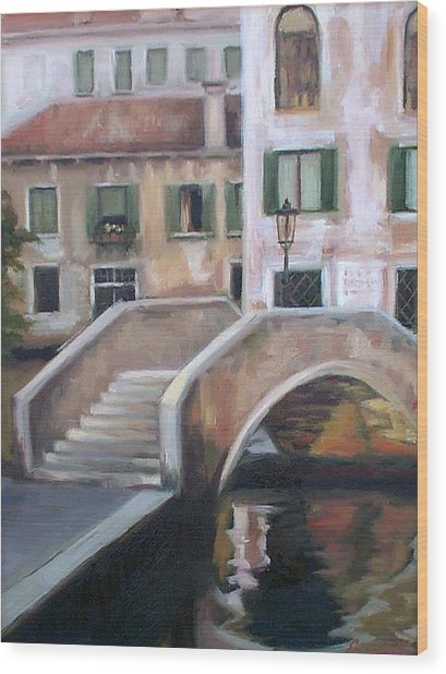 Back Streets Of Venice Wood Print