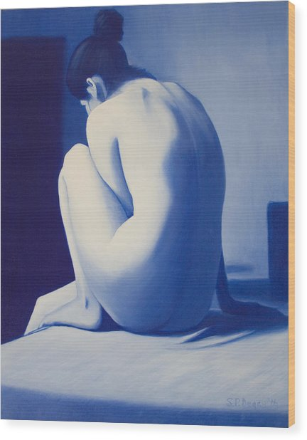 Back To Blue Wood Print by Stephen Degan