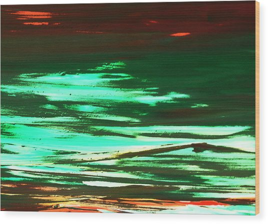 Back To Canvas The Landscape Of The Acid People Wood Print