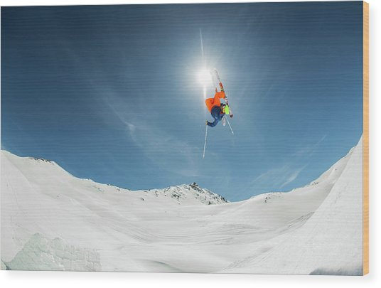 Backcountry Kicker Locals Only Wood Print