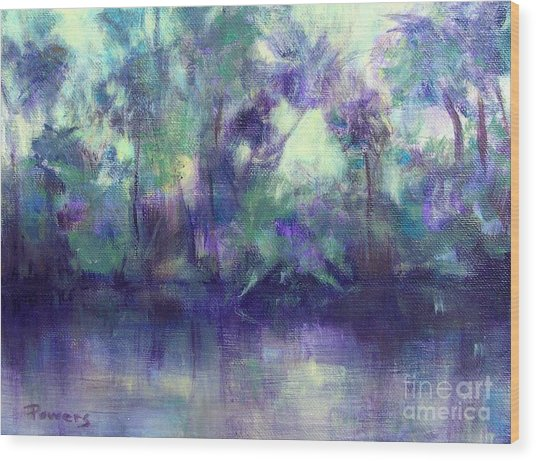 Backwater Wood Print by Mary Lynne Powers