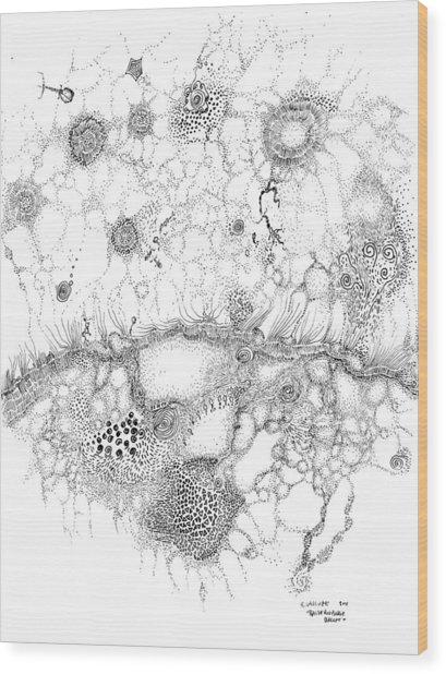 Bacteriophage Ballet Wood Print