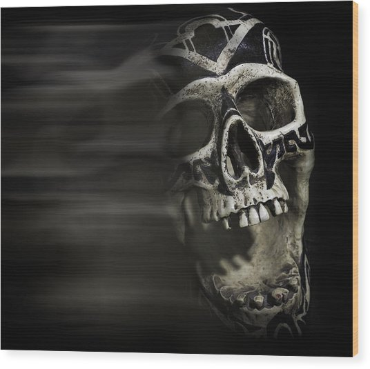 Bad Dreams  Wood Print by Rollie Robles