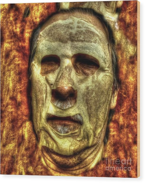 Bad Face Wood Print