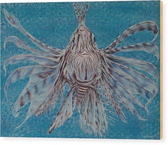 Bad Fish Wood Print