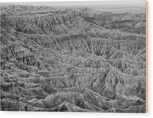 Badlands Of Great American Southwest - 3 Wood Print