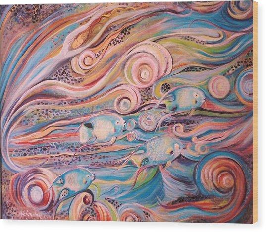 Bahama Fish Wood Print