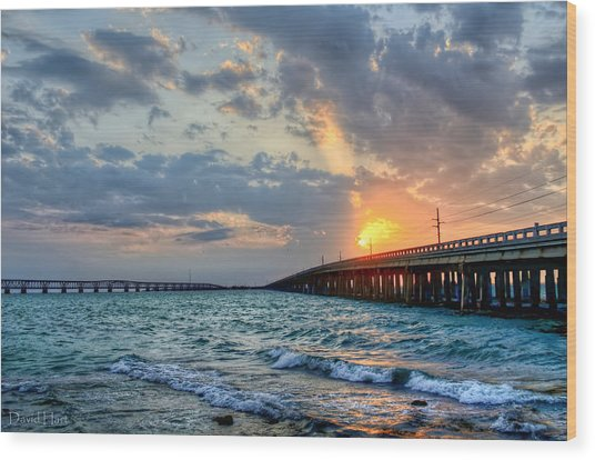Bahia Honda Sunset Wood Print