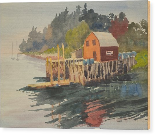 Bailey Island Wood Print by Peggy Poppe